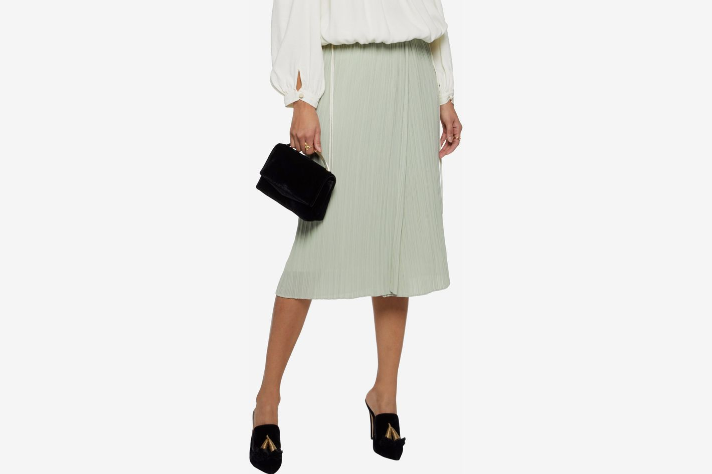 By Malene Birger pleated chiffon midi skirt