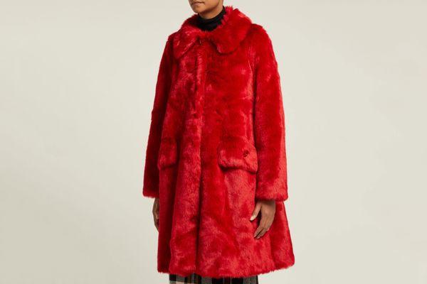 Shrimps Kassidy Crystal-Embellished Faux-Fur Coat