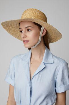 Federica Moretti Woven Wide-Brimmed Sun Hat
