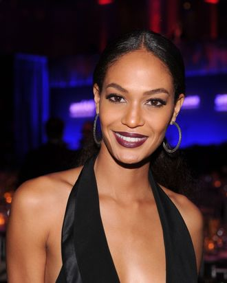 Model Joan Smalls attends the amfAR New York Gala To Kick Off Fall 2012 Fashion Week at Cipriani Wall Street on February 8, 2012 in New York City.