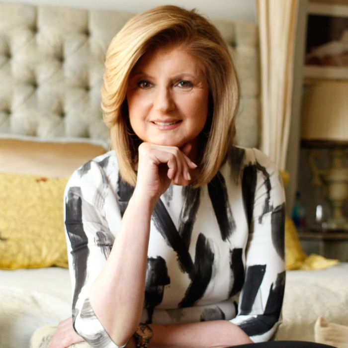 Arianna Huffington in her element.