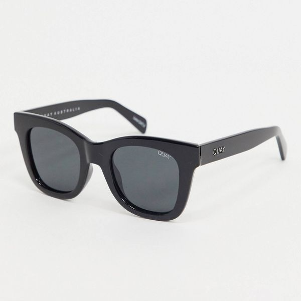 Quay Australia After Hours Oversized Square Sunglasses in Black