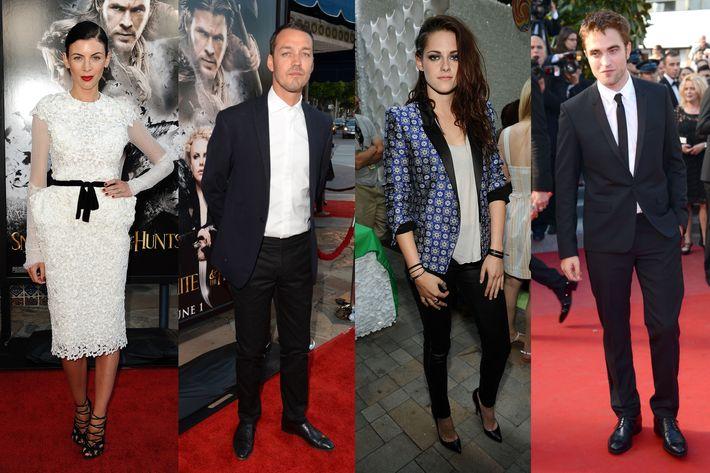 Love square: Liberty Ross, Rupert Sanders, Kristen Stewart, and Robert Pattinson.