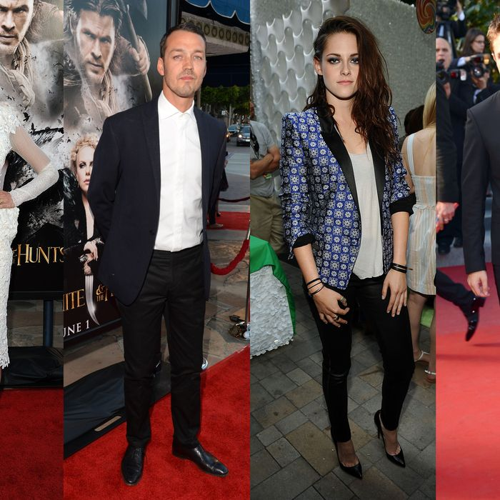 Love square: Liberty Ross, Rupert Sanders, Kristen Stewart, and Robert Pattinson.