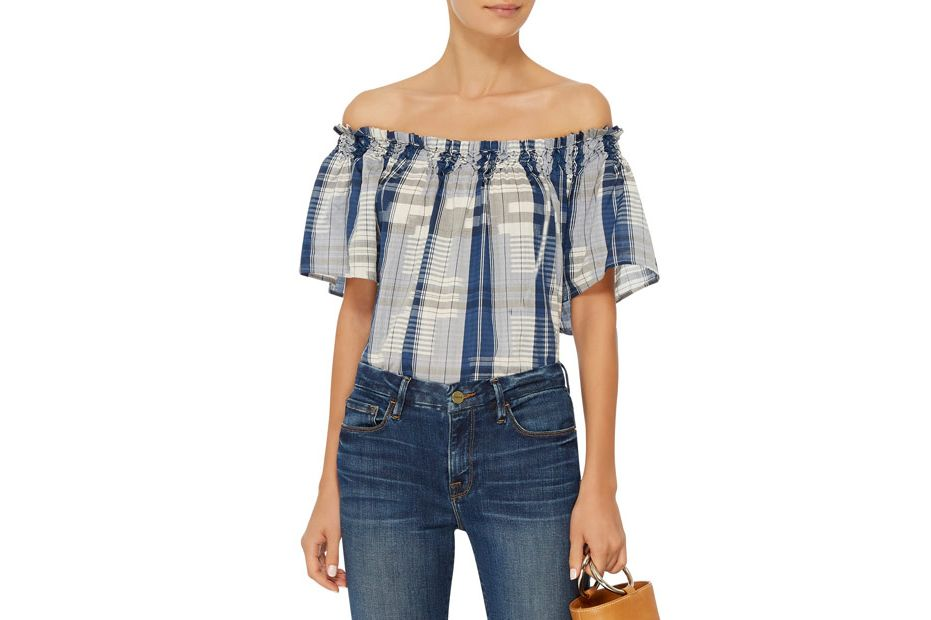 Ulla Johnson Amania Off The Shoulder Blouse