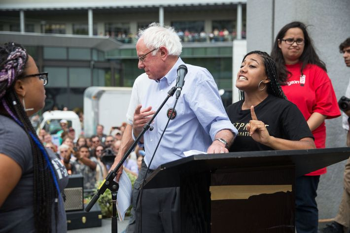 Bernie Sanders Interrupted by Black Lives Matter Activists in Seattle