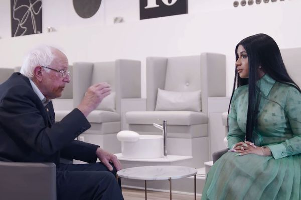 Watch Cardi B and Bernie Sanders Have a Political Summit