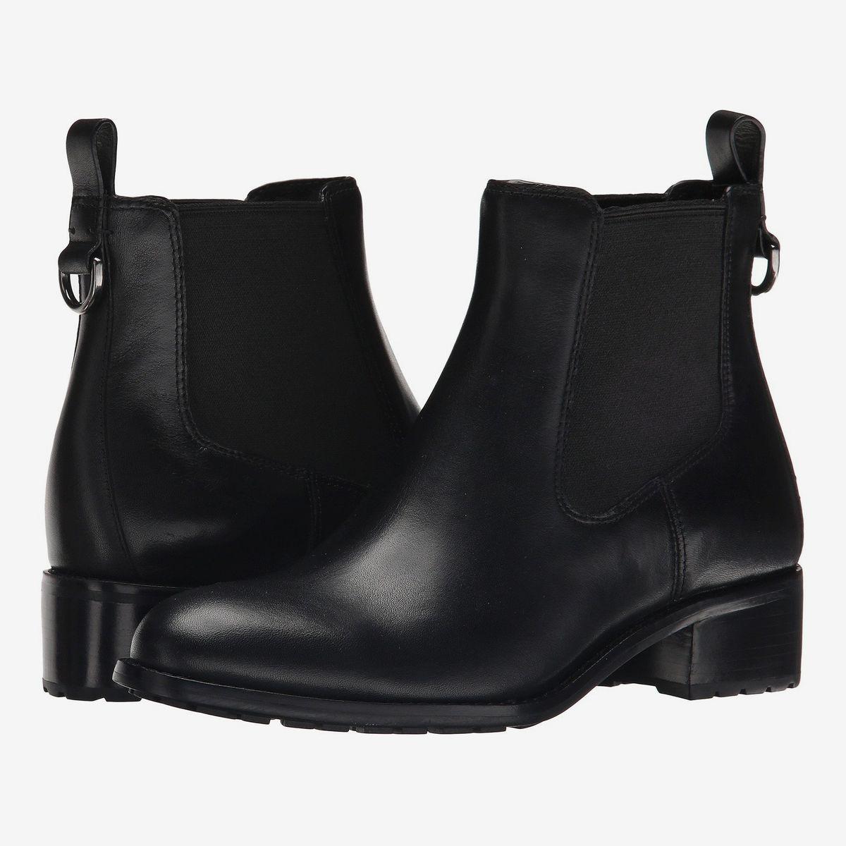 Ladies Winter Ravel Troy Black Suede Wedge High Heel Warm Fur Ankle Boots UK 4