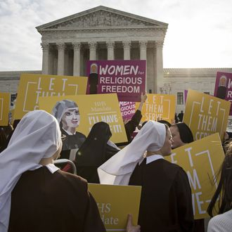 Supreme Court Hears Arguments In The Obamacare Contraception Case