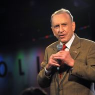 Arlen Specter, the former United States Senator from Pennsylvania, performs at Caroline's On Broadway on March 26, 2012 in New York City.