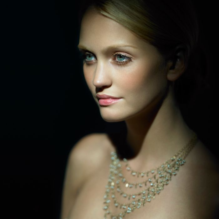 Woman Wearing Diamond Necklace --- Image by ? Adrianna Williams/Corbis