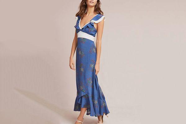 Larke Loretta Ruffled Petite Dress