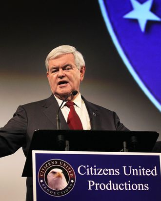 Republican presidential candidate Newt Gingrich.
