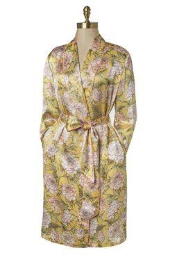 Paul Stuart Floral & Fern Silk Robe
