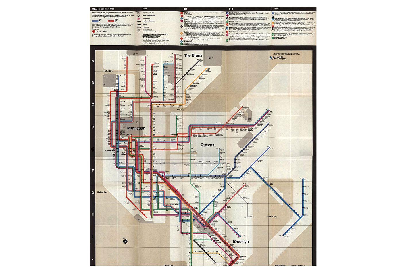 1972 Massimo Vignelli Subway Map