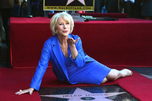Actress Helen Mirren,who Honored On The Hollywood Walk Of Fame with her own star on January 3, 2013 in Hollywood, California.
