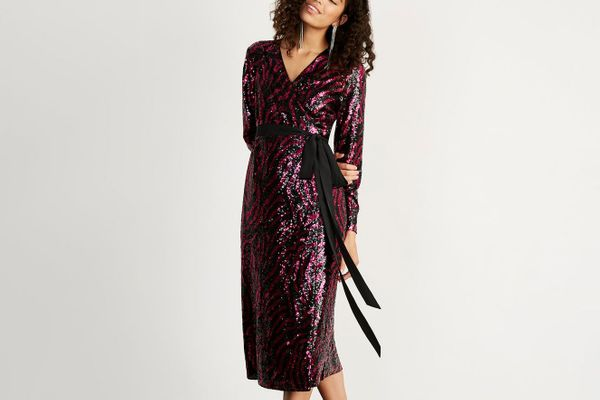 Odile Wrap Midi Dress