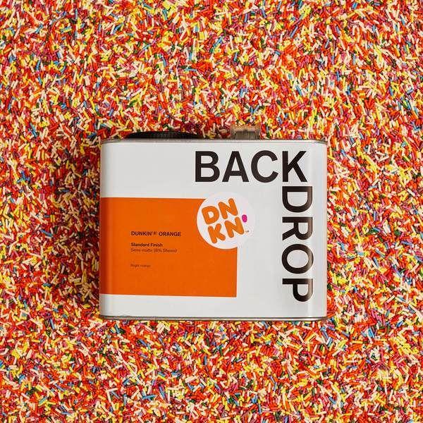 Backdrop Dunkin Orange