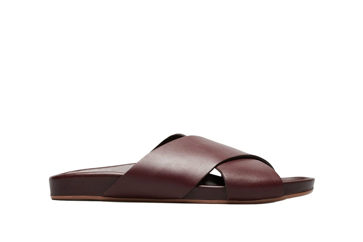 Everlane Wine Form Cross Sandals