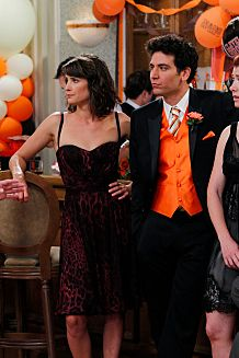 """The Best Man"" -- Barney (Neil Patrick Harris), Robin (Cobie Smulders), Ted (Josh Radnor), Lily (Alyson Hannigan) and Marshall (Jason Segel) stick together at a pals wedding,  on the seventh season premiere of HOW I MET YOUR MOTHER, Monday, Sept. 19 (8:00-8:30 PM, ET/PT) on the CBS Television Network.  Photo: Cliff Lipson/CBS ?2011 CBS Broadcasting Inc. All Rights Reserved."