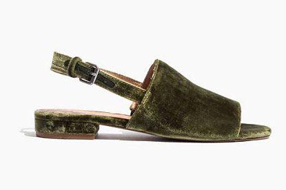 The Noelle Slingback Sandal in Velvet