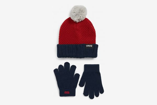 Levi's Bold Beanie & Gloves Set