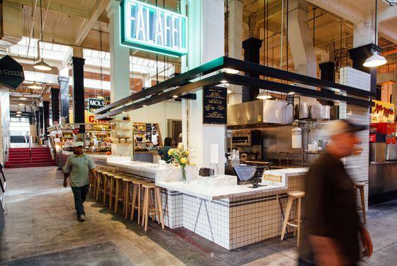Madcapra's stand inside Grand Central Market.