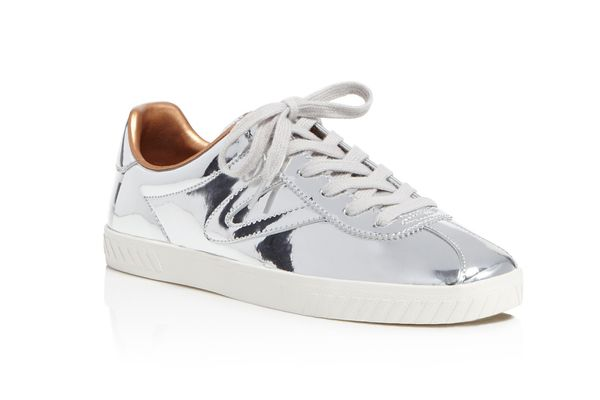 Tretorn Women's Camden 2 Metallic Leather Low Top Lace Up Sneakers