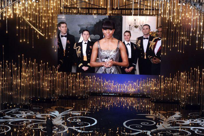 Michelle Obama's Oscars cameo.