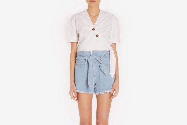 Nanushka Short Sleeve Cotton Top