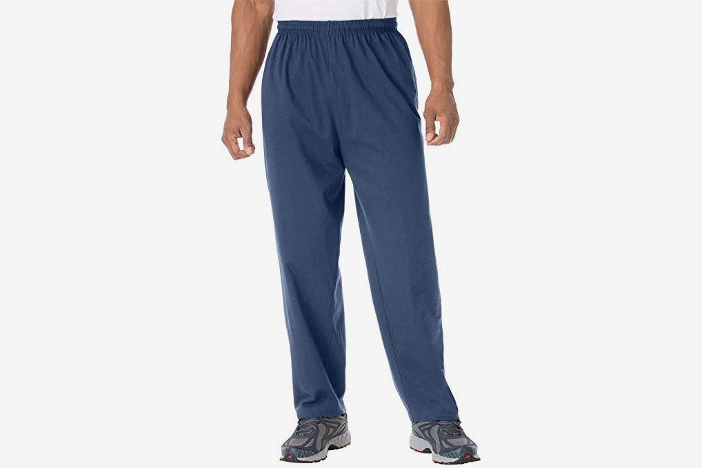 8c8170b54 KingSize Men's Big & Tall Lightweight Open-Bottom Sweats