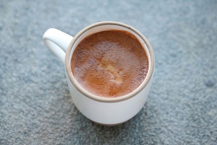The Shot in the Dark is a fancy Dunkaccino that mixes espresso with Ritual Chocolate's Belize 75 percent cacao.