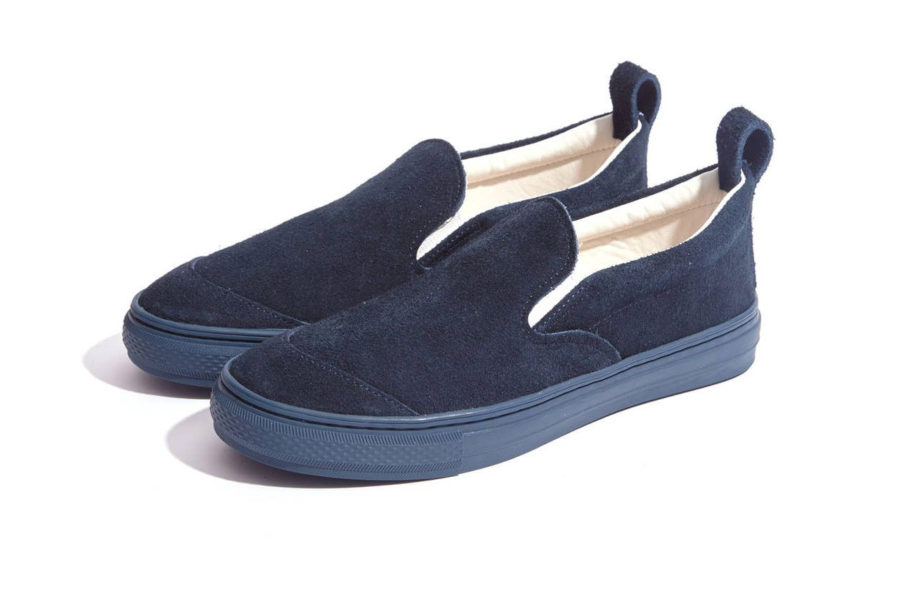 Buddy Navy Suede German Shepherd Slip-On