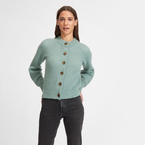 Everlane Cropped Alpaca Cardigan
