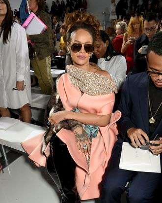Rihanna at a fashion show (not her own.)
