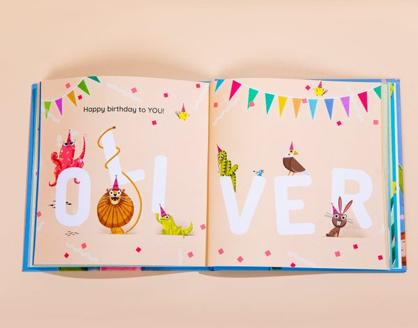 Personalised Happy Birthday to You book