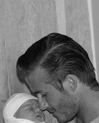 David Beckham with Harper Seven.