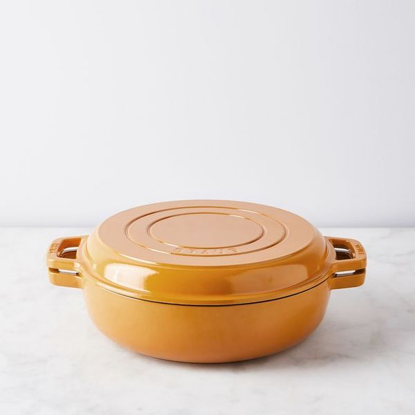 Food52 x Staub Turmeric Cookware 2-in-1 Grill Pan and Cocotte