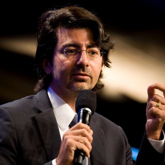 NEW YORK, NY - SEPTEMBER 23: eBay founder Pierre Omidyar speaks during the panel session Democracy and Voice: Technology For Citizen Empowerment and Human Rights during the annual Clinton Global Initiative (CGI) on September 23, 2010 in New York City. The sixth annual meeting of the CGI gathers prominent individuals in politics, business, science, academics, religion and entertainment to discuss global issues such as climate change and the reconstruction of Haiti. The event, founded by Clinton after he left office, is held the same week as the General Assembly at the United Nations, when most world leaders are in New York City. (Photo by Brian Harkin/Getty Images) *** Local Caption *** Pierre Omidyar