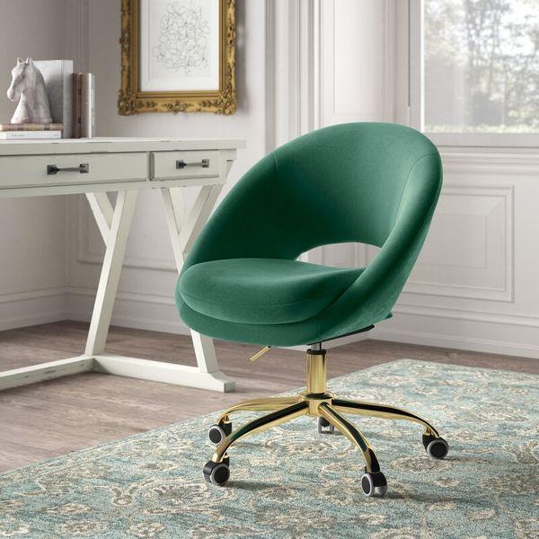 Kelly Clarkson Home Lourdes Velvet Task Chair