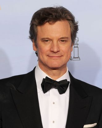 BEVERLY HILLS, CA - JANUARY 15: Actor Colin Firth poses in the press room at the 69th Annual Golden Globe Awards held at the Beverly Hilton Hotel on January 15, 2012 in Beverly Hills, California. (Photo by Kevin Winter/Getty Images)