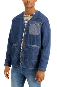 Sun + Stone Men's James Denim Liner Jacket