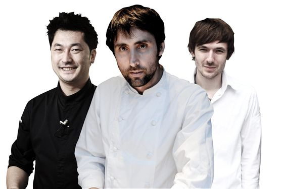 Pierre Sang, Inaki Aizpitarte, and Romain Tischenko, who were profiled in a female-free chef feature.