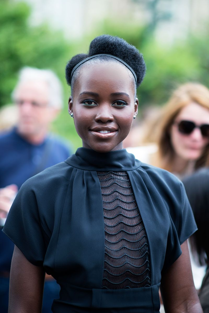 Lupita Nyong'o - The Couture-iest Street Style at Couture ...