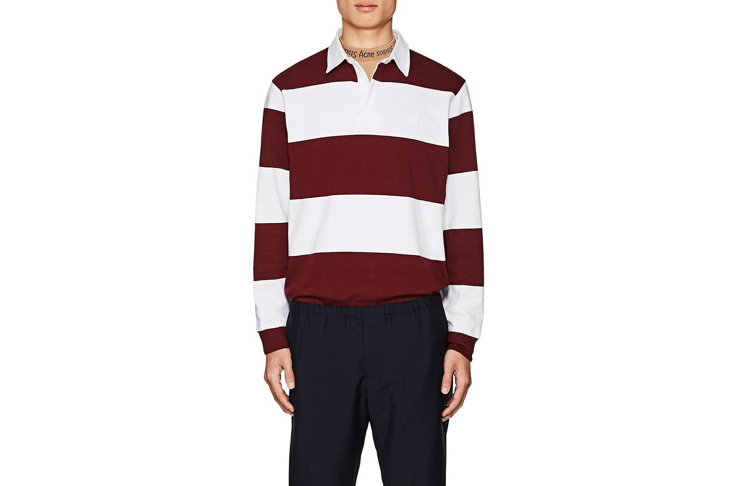 Acne Studios Nichols Striped Cotton Polo Shirt