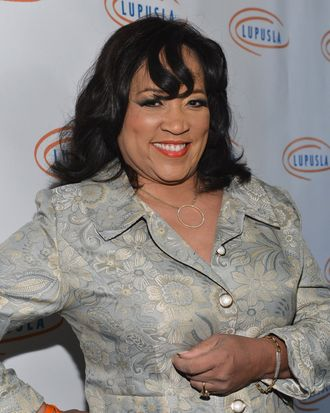 Actress Jackee Harry arrives to the Lupus LA 10th Anniversary Hollywood Bag Ladies Luncheon at Regent Beverly Wilshire Hotel on November 1, 2012 in Beverly Hills, California.