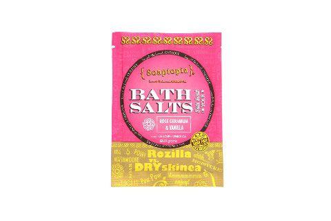 Soaptopia Rozilla vs. DRYskinea Bath Salts