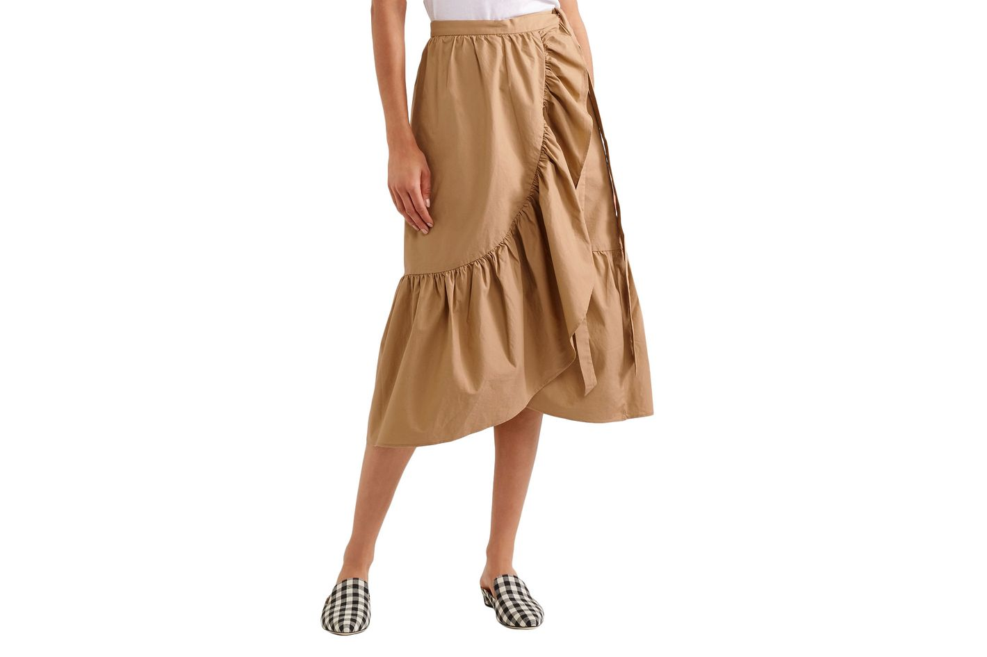 J.Crew Ruffled Poplin Skirt