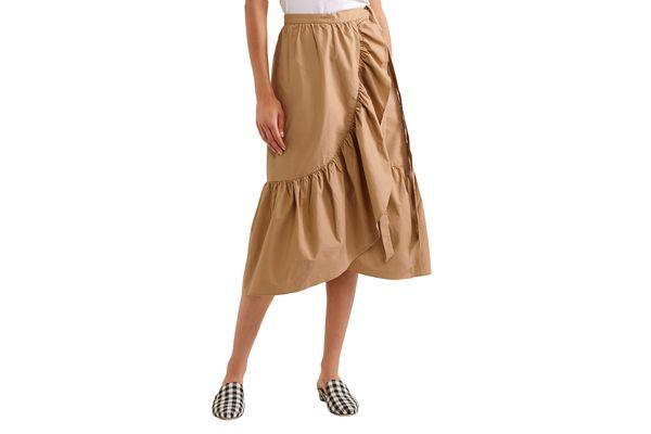 J.Crew Ruffled Poplin Skirt