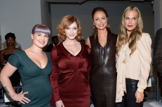 NEW YORK, NY - SEPTEMBER 08:  Kelly Osbourne, Christina Hendricks, Stacy Keibler and Molly Sims attend the Zac Posen fashion show during Mercedes-Benz Fashion Week Spring 2014 at Center 548 on September 8, 2013 in New York City.  (Photo by Michael Loccisano/Getty Images for Mercedes-Benz Fashion Week Spring 2014)